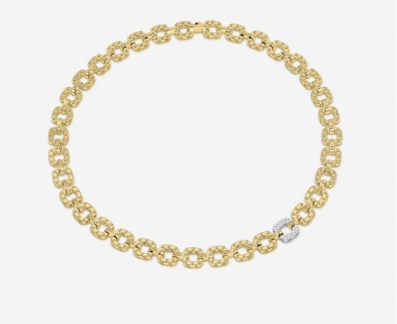 Roberto Coin 18k Necklace with 1 Diamond Link