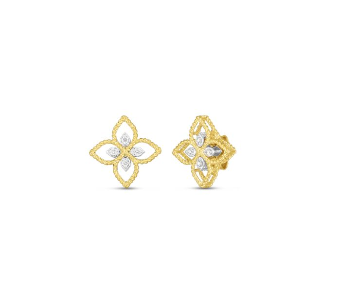 Roberto Coin 18k Principessa Small Diamond Stud Earrings