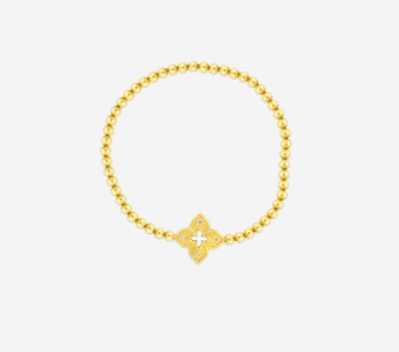 Roberto Coin 18k Petite Venetian Princess Stretch Bracelet with Diamonds