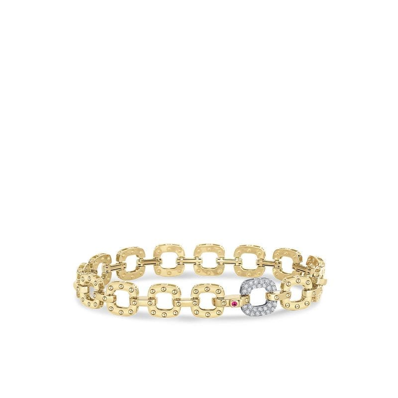 Roberto Coin 18k Bracelet with 1 Petite Diamond Link