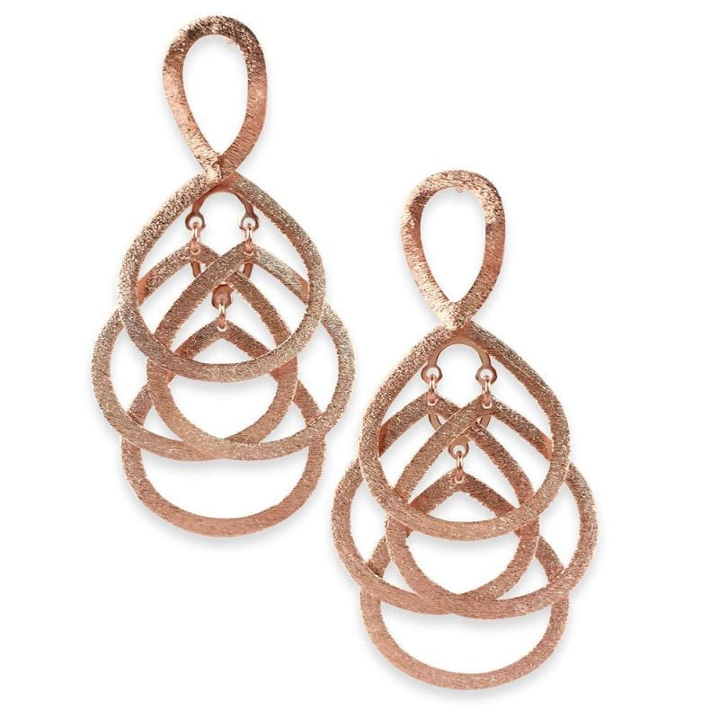 Sheila Fajl 18k Rose Gold Plate Nia Earrings