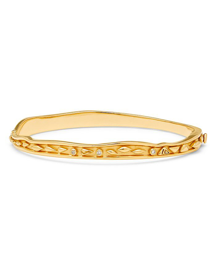 Temple St. Clair 18k Yellow Gold River Wave Bangle
