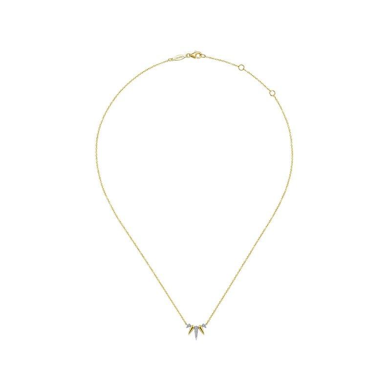 Diamond Pave Spike Fan Necklace