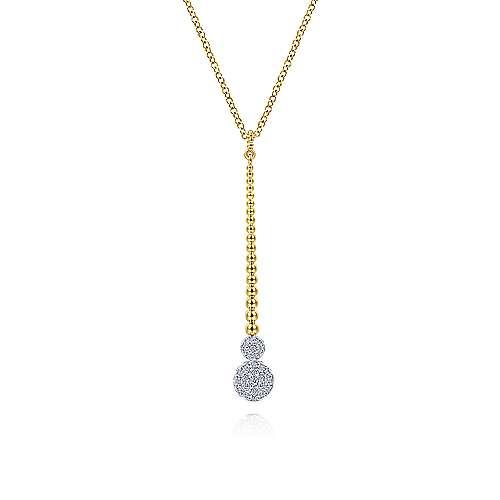 Bead Bar Diamond Drop Y Necklace