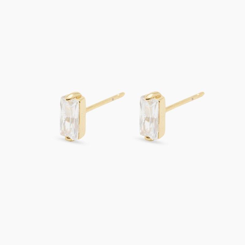 Gorjana Amara Solitaire Stud Earrings