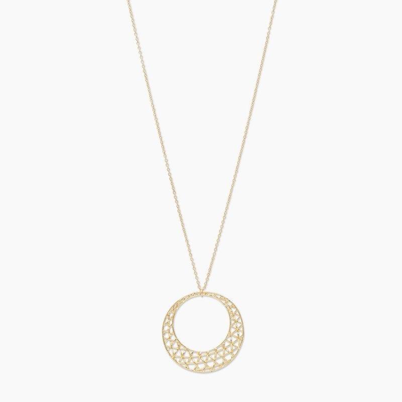 Gorjana 18k Yellow Gold Plate Tulum Pendant Necklace