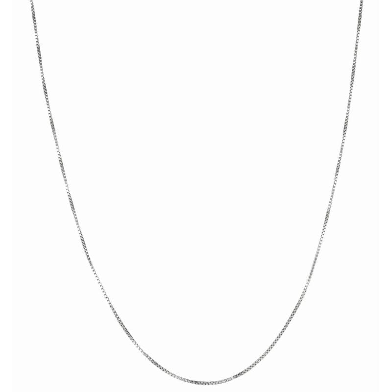 Sterling Silver Classic Box Chain Necklace