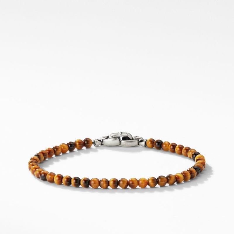 Spiritual Beads Bracelet with Tiger's Eye, Size M