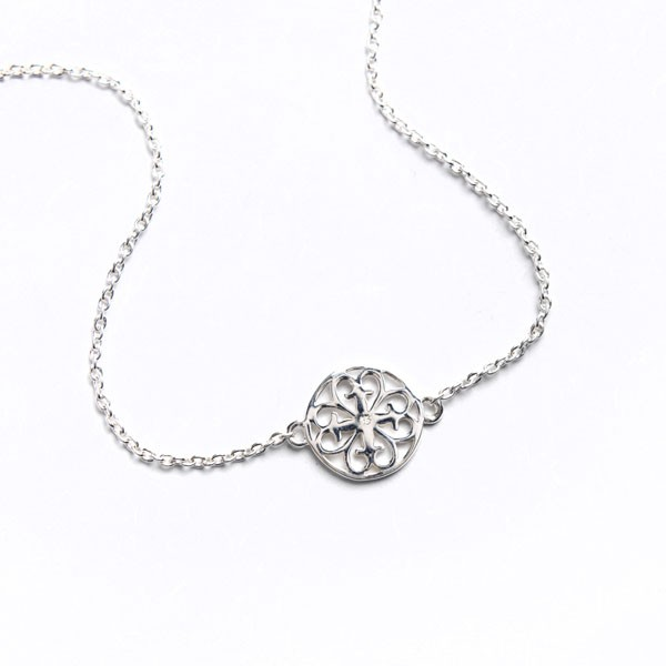 Southern Gates Logo Necklace in Sterling Silver