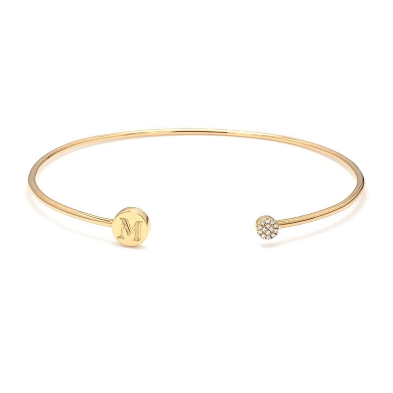 Bailey's Heritage Collection Diamond Gold Cuff Bracelet