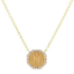 Bailey's Heritge Collection Octagon Diamond Pendant