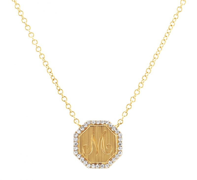 Bailey's Heritge Collection Octagon Diamond Pendant