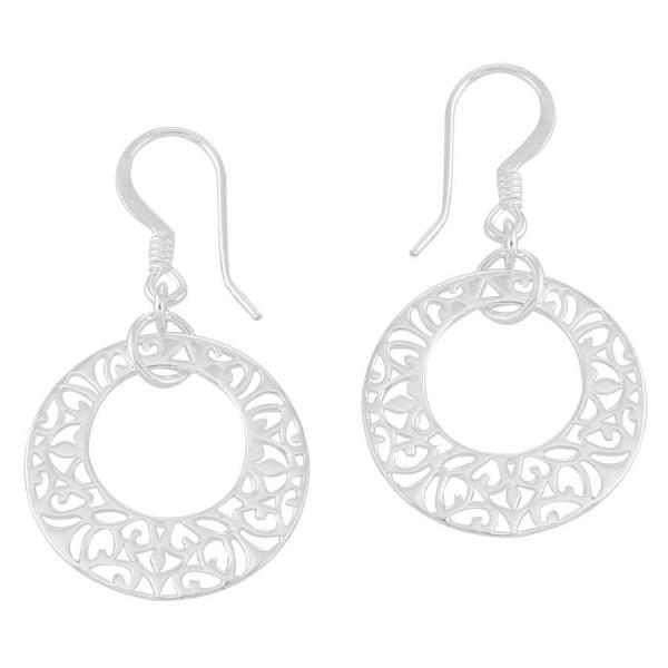 Southern Gates Sterling Silver Open Center Filgree Earrings