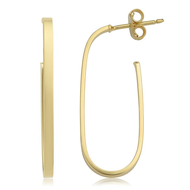 Bailey's Goldmark Collection Oval Hoop Earrings in 14k Yellow Gold