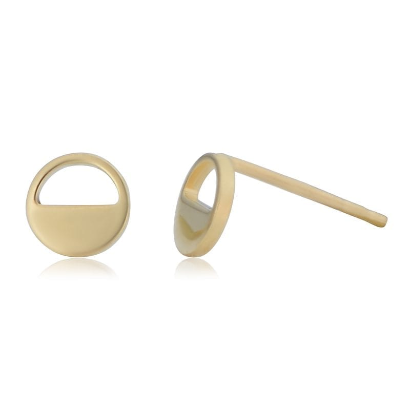 Bailey's Goldmark Collection Half Open Circle Stud Earrings in 14k Yellow Gold