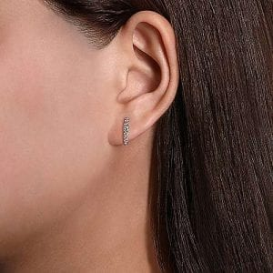 Graduated Diamond Huggie Earrings