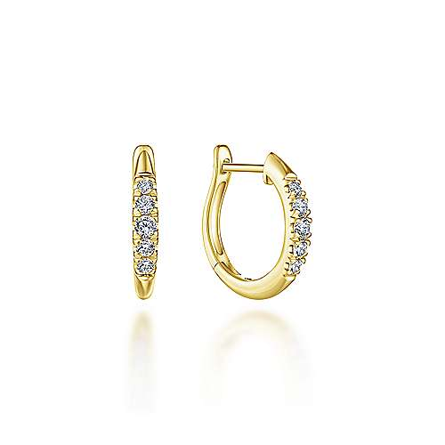 Classic Diamond Huggie Earrings