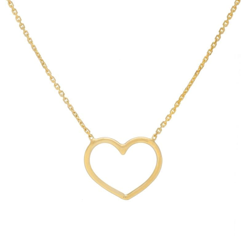 Bailey's Goldmark Collection Open Heart Necklace in 14k Yellow Gold