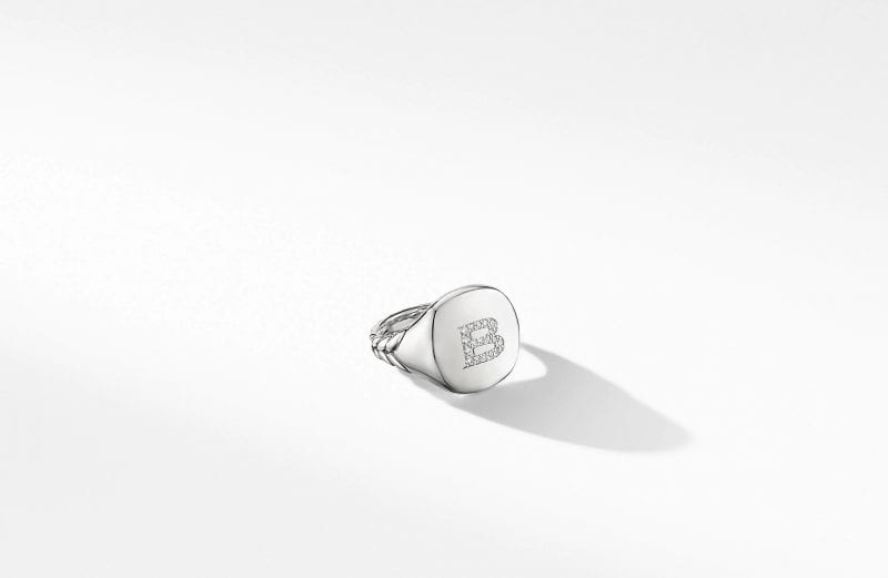 DY Initial Pinky Ring, Size 6