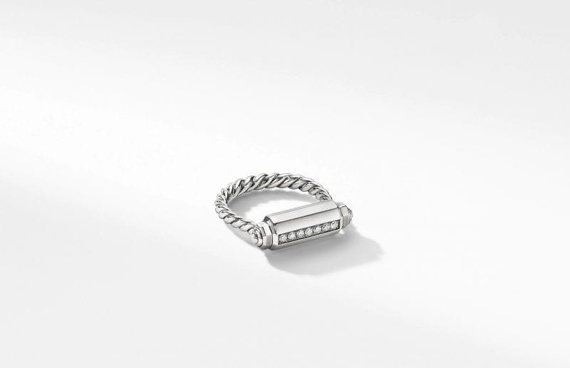 Lexington Barrel Ring with Diamonds, Size 5