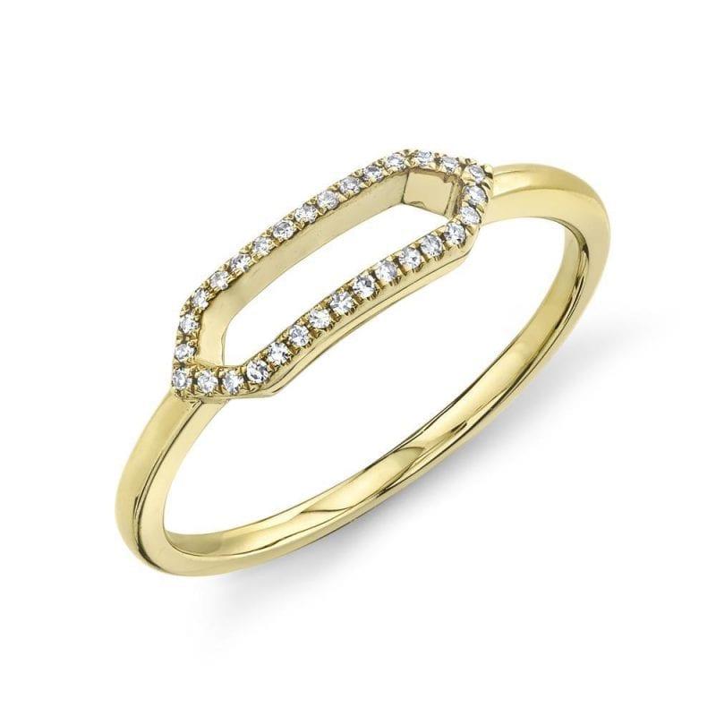 Bailey's Goldmark Collection Open Hexagon Diamond Ring