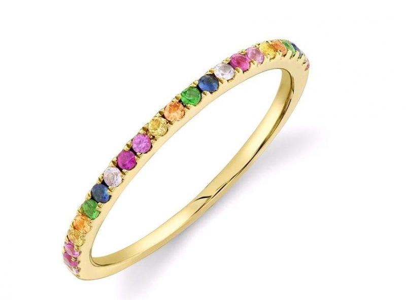 Bailey's Goldmark Collection Rainbow Sapphire Ring in 14k Yellow Gold