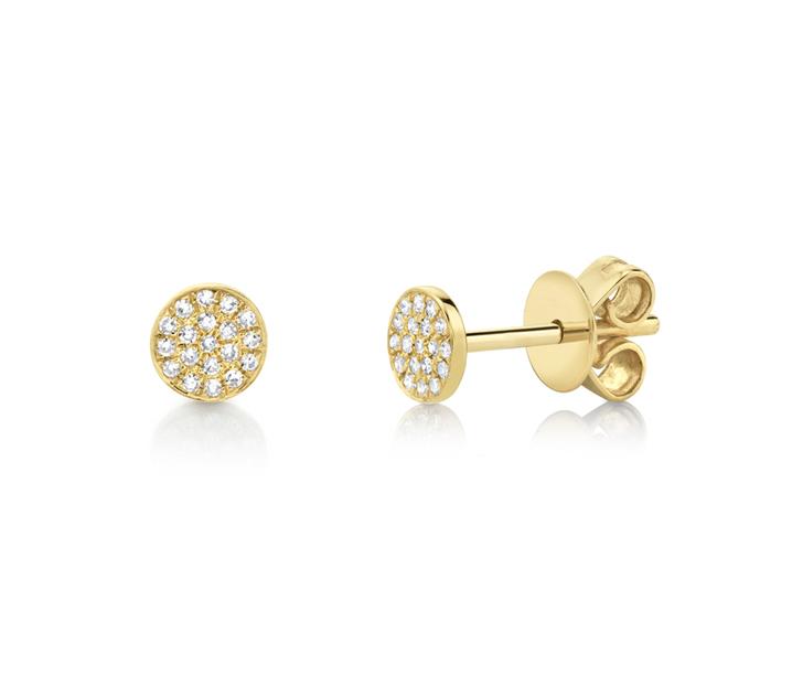 Diamond Pave Stud Earrings