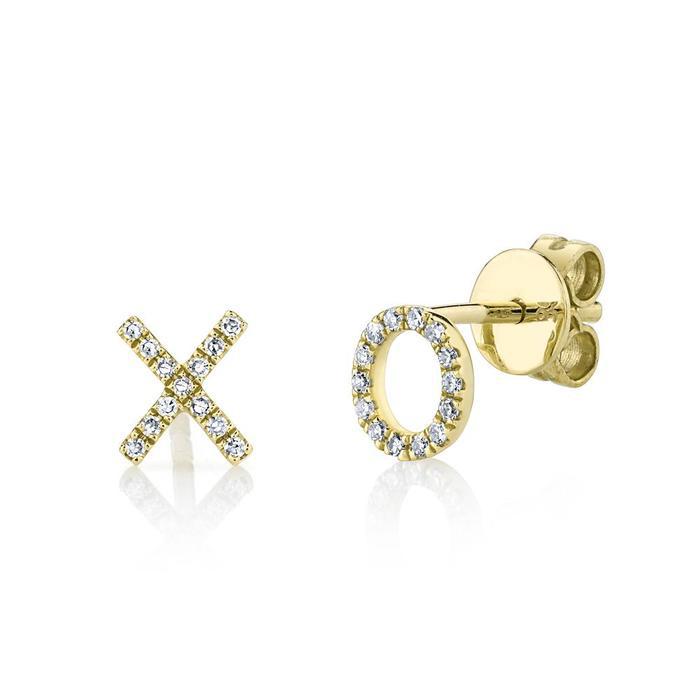 Bailey's Goldmark Collection XO Diamond Stud Earrings