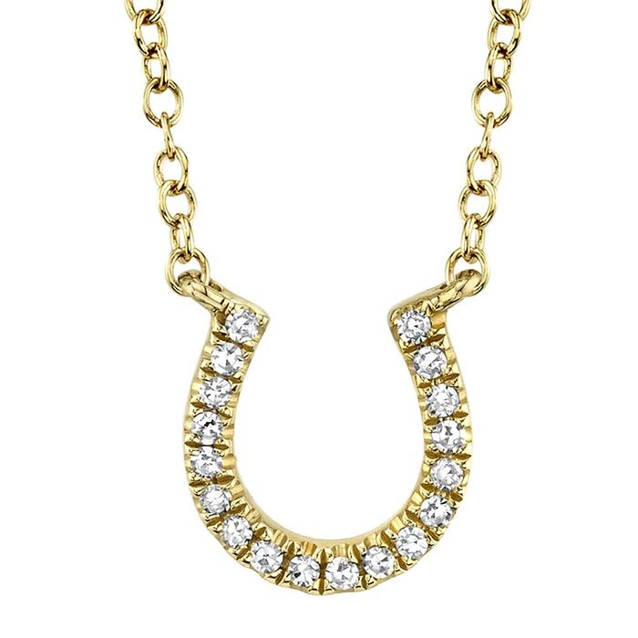 Bailey's Goldmark Collection Diamond Horseshoe Pendant Necklace