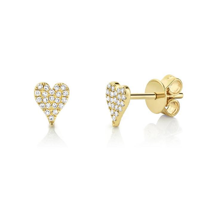 Bailey's Goldmark Collection Pave Diamond Heart Stud Earrings