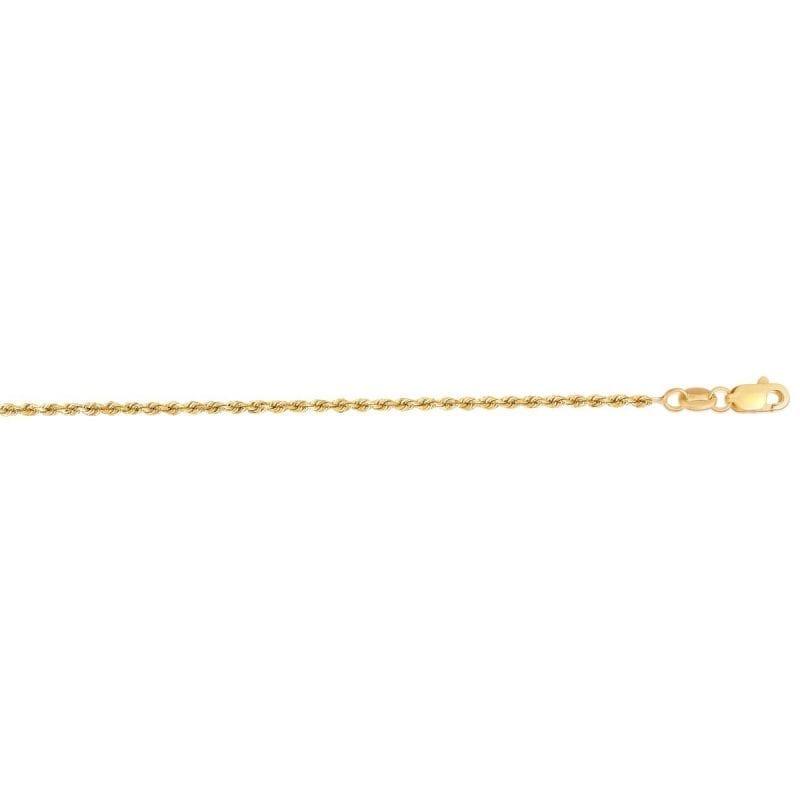14K Gold 1.25mm Diamond Cut Rope Chain