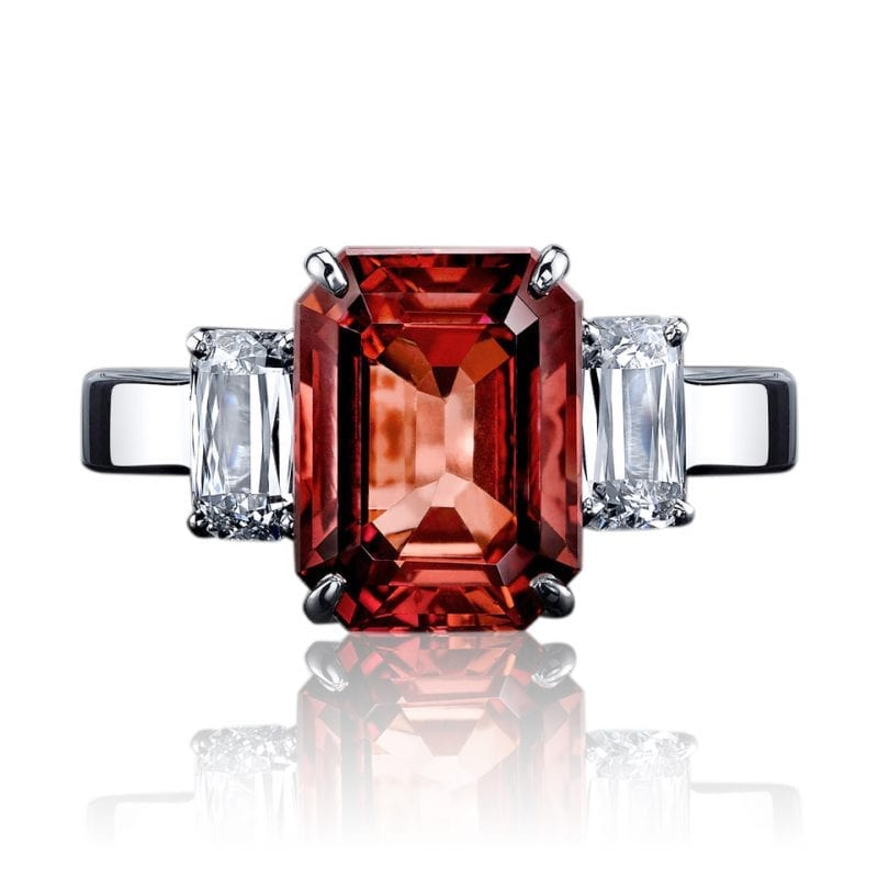 6.44ct Emerald Cut Ruby Ring