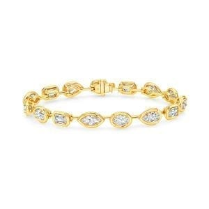 Mix Diamond Bar Bracelet