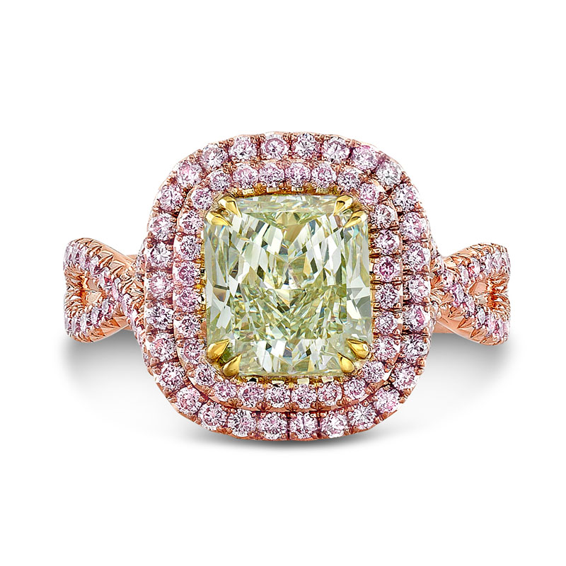 Fancy Color Diamond Halo Ring