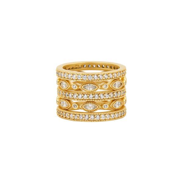 Freida Rothman Signature Classic Marquise Eternity 5-Stack Ring