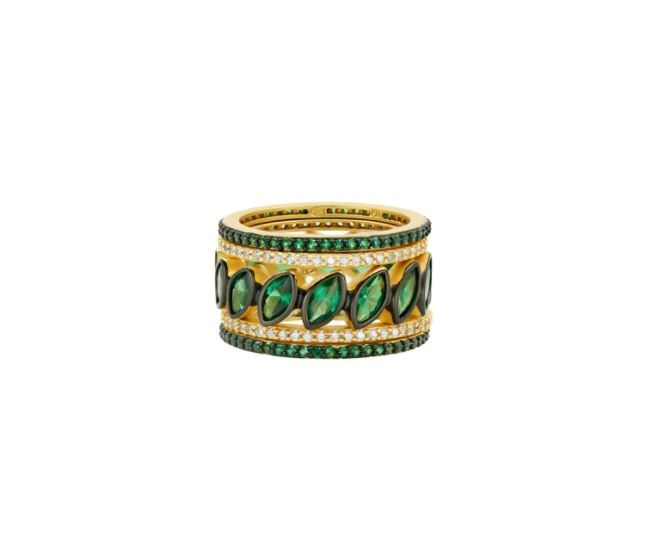 Freida Rothman Midnight Stack Marquise Ring