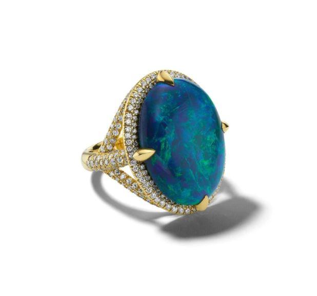 Ippolita Atelier Rock Candy Opal Diamond Ring