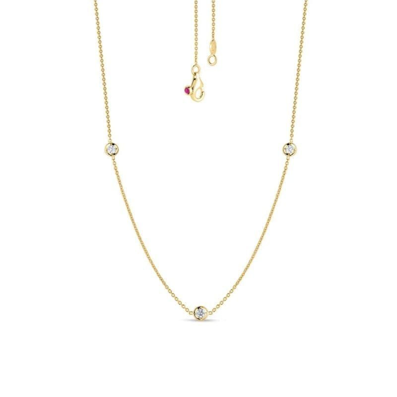 Roberto Coin 18k Diamonds By The Inch Necklace
