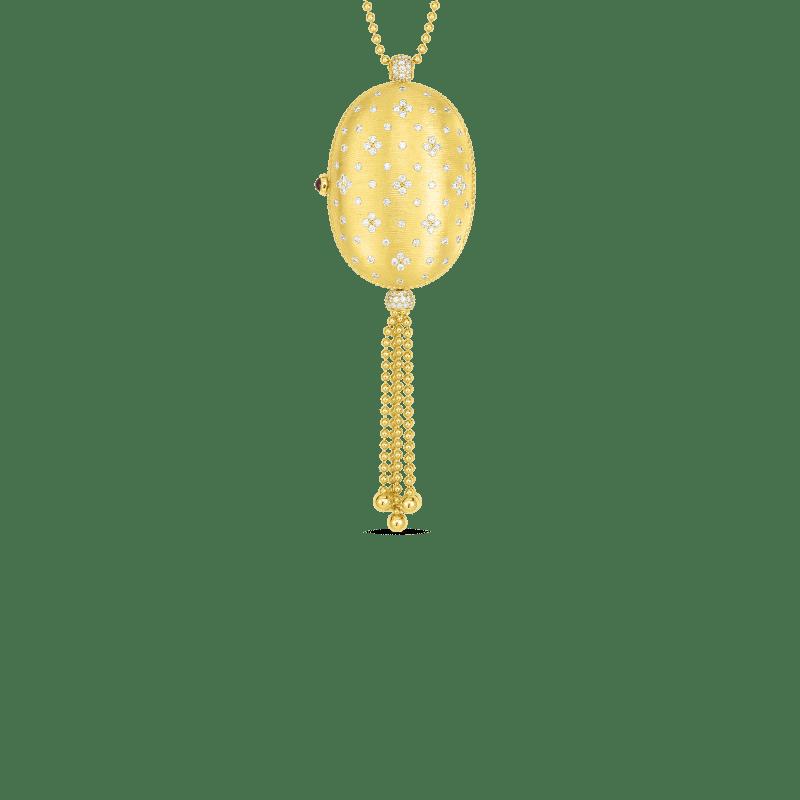 Roberto Coin 18k Princess Oval Locket With Diamonds