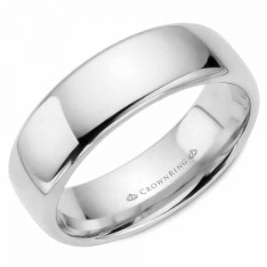 white gold wedding band ring 7mm