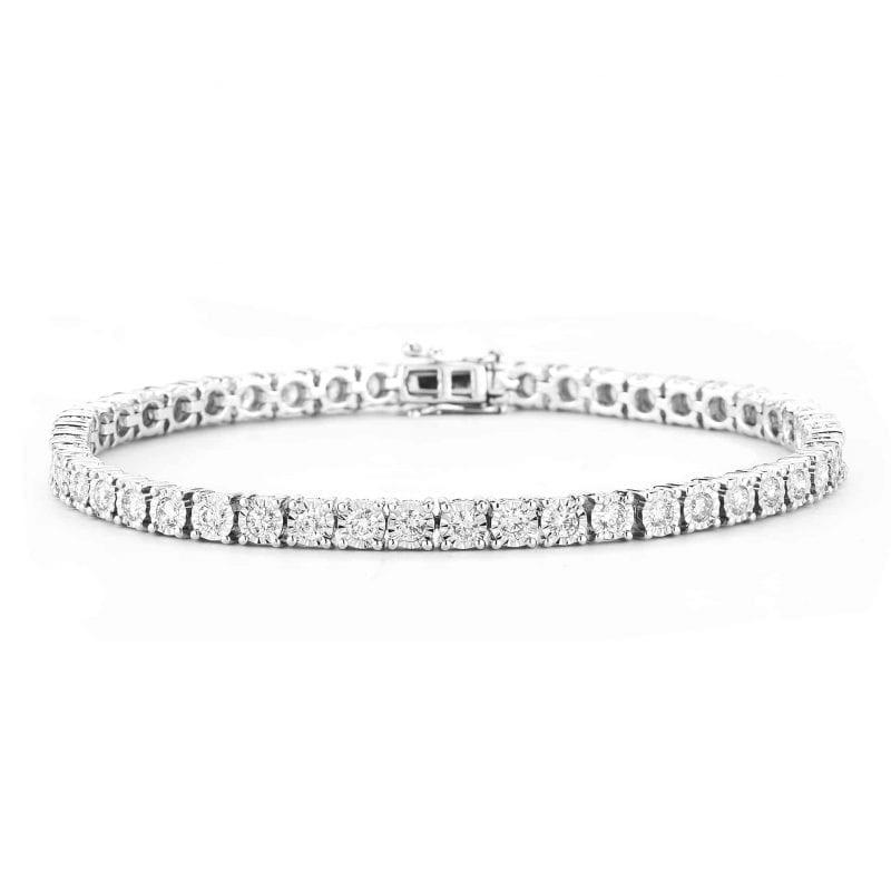 2.95CTW Diamond Tennis Bracelet in 14k White Gold