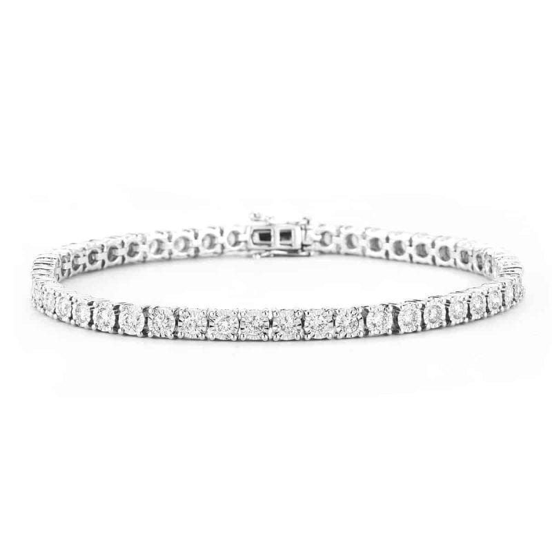 1.98CTW Diamond Tennis Bracelet in 14k White Gold