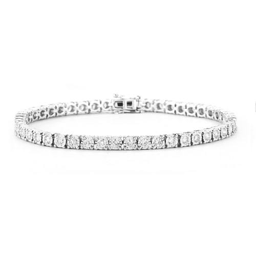 0.96CTW Diamond Tennis Bracelet in 14k White Gold