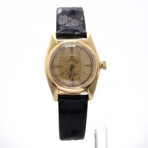 Bailey's Certified Pre-Owned Rolex 1940s 14k Yellow Gold 30mm Bubbleback