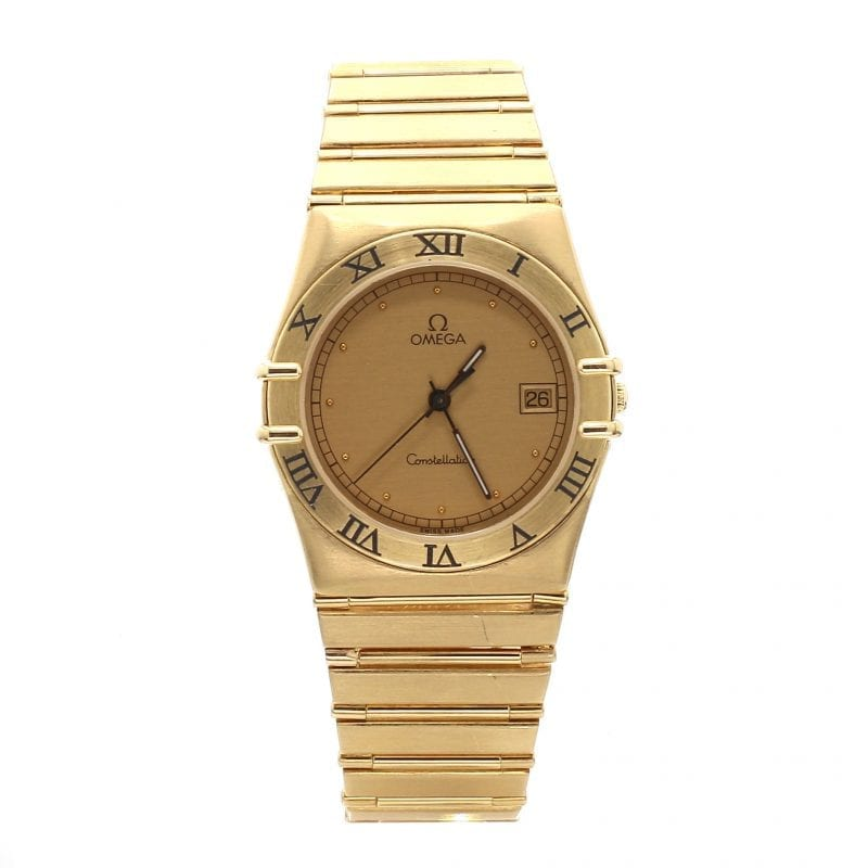 Pre-Owned Omega 18k Yellow Gold Ladies 34mm Constellation Watch