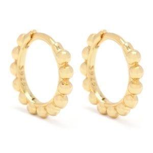 Beaded Huggie Hoop Earrings