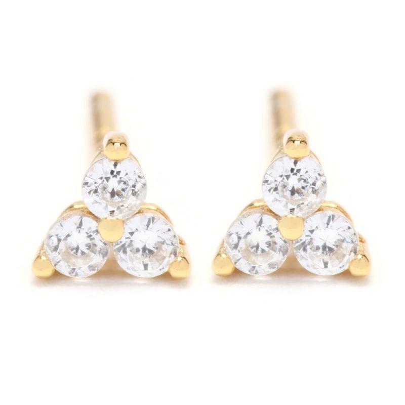 CZ Cluster Stud Earrings