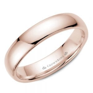 rose gold wedding band ring