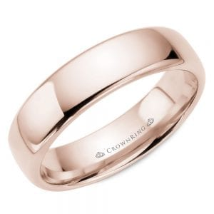 6mm rose gold band ring