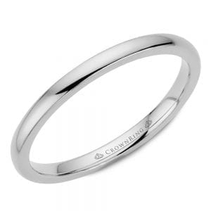 white gold wedding band ring 2mm